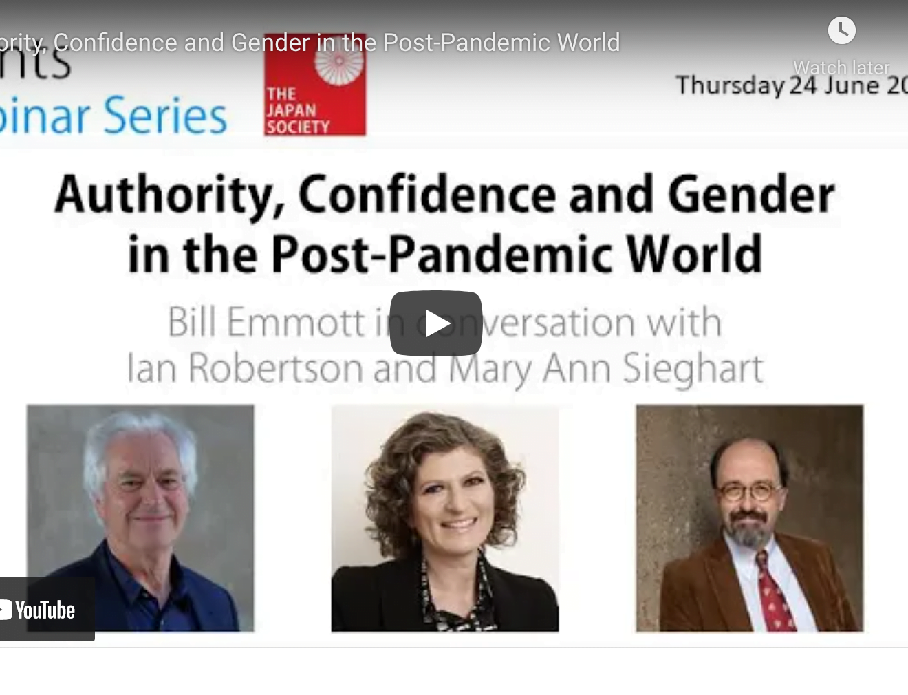 Authority, Confidence and Gender