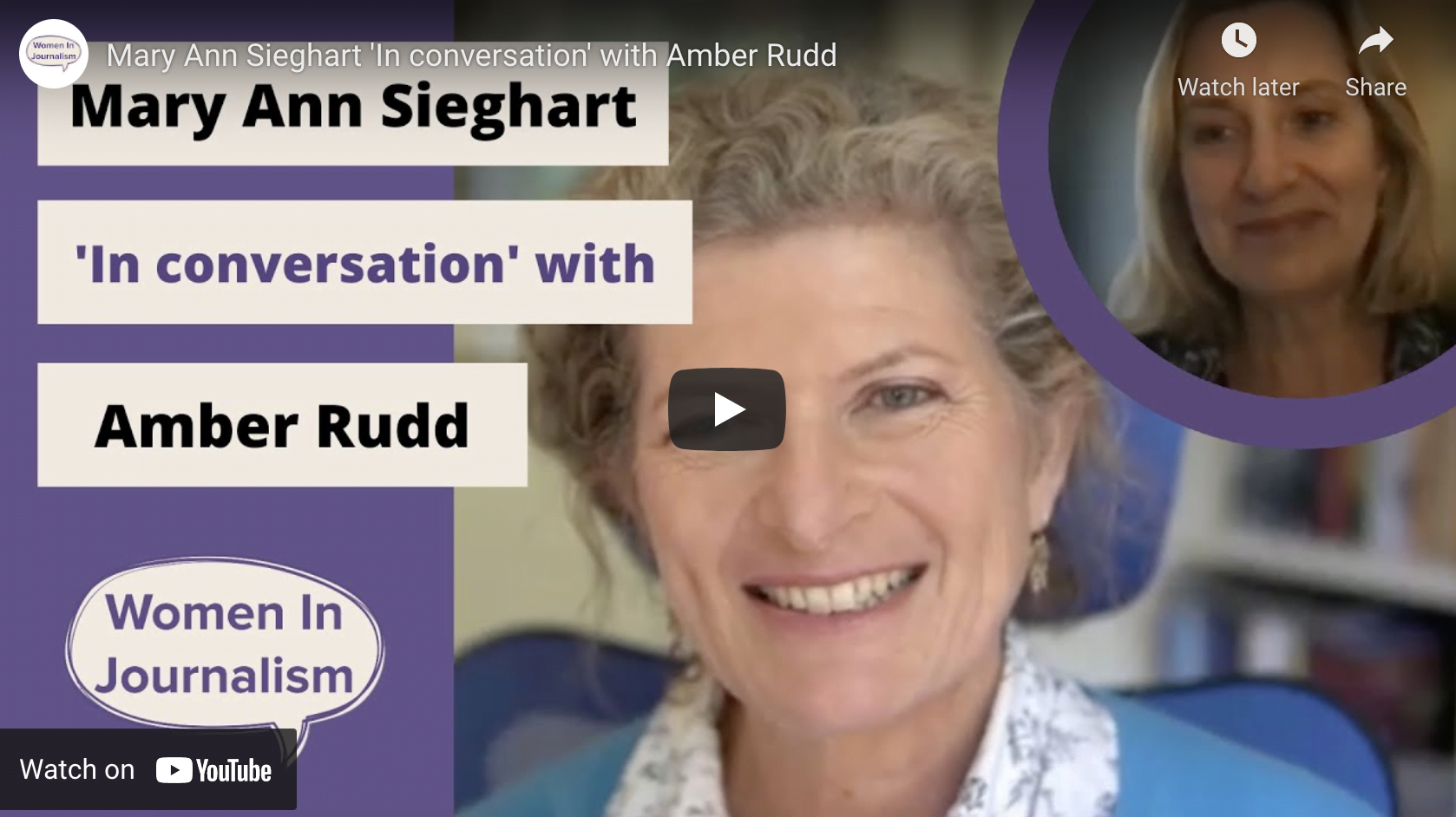 In conversation with Amber Rudd