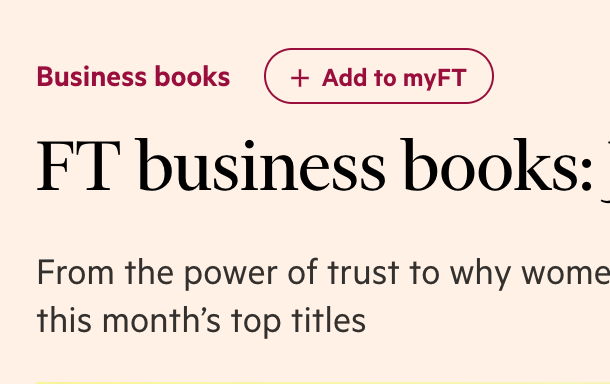Recommended in FT Business Books